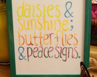 Daisies and Sunshine Art Print