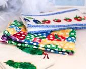 Designer Fabric Baby burp cloths - Very Hungry Caterpillar Design Set of 3
