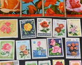 55 Rose Stamps from around the World