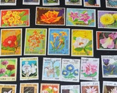 50 Flower stamps from around the World B53