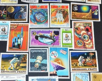 50 Space Stamps from around the World
