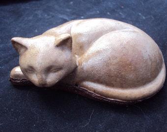 Cat Stone Statuary, Paperweight, Decor