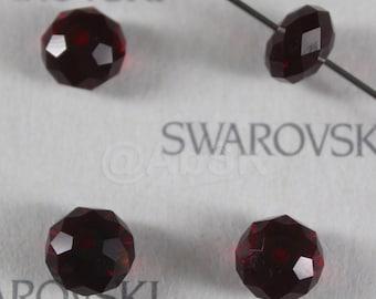 6 pieces Swarovski Elements 5040 8mm RONDELLE Spacer Beads - Siam