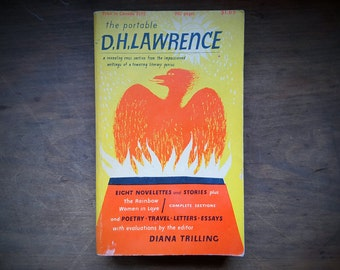 Vintage Mid Century 1960 10th edition The Portable D.H. Lawrence 8 Novelettes and Stories Paperback Book