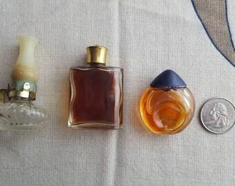 Vintage Set (3) 1960's Mini Perfume Bottles