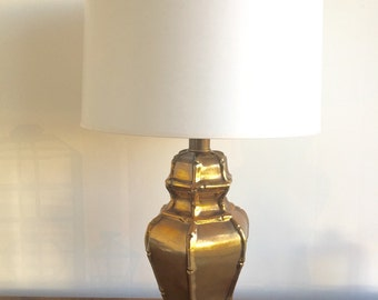 Vintage Lamp - Bronze Ceramic Bamboo