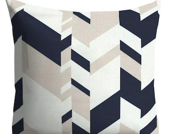 nate berkus pillows, couch pillows, neutral pillows, decorative pillows, navy pillows, blue white throw pillows, euro shams, navy euro shams
