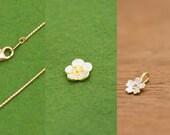 Custom order for Deanna - Sakura pendant, Ume pendant, 45cm 1.2 Snake chain Gold Vermeil