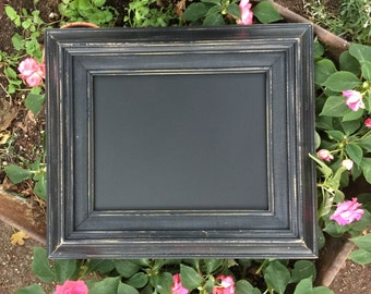 Shabby Chic Black 8 x 10 Framed Chalkboard, Menu Chalkboard, Photo Prop Chalkboard, Wedding Sign Chalkboard