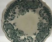 Syracuse China Plate Ironstone SY123-Green Restaurant, Green & White Flowers Pattern Smooth Bread and Butter Plate