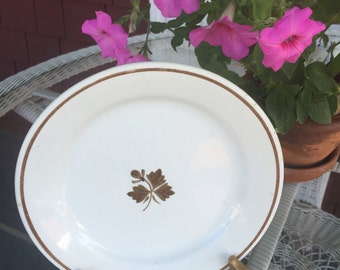 Royal Ironstone China Antique White Tea-leaf plate Alfred Meakin England