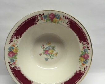 Homer Laughlin Magestic Brittany pattern Rim Cereal Bowl