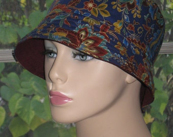 Womens Chemo Hat Chemo Headwear Bucket Hat  SM/MED