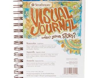 "Strathmore Visual Journal Watercolor 5.5""X8"" - 140 lb"