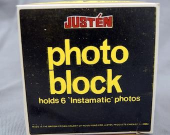 Vintage 1970's Justen Instamatic Photo Block Photo Holder Photo Frame
