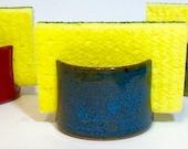 Handmade Ceramic Sponge Holder, Blue Pottery Sponge Holder, laurenbauschoriginal