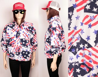 90s stars and stripes bomber jacket