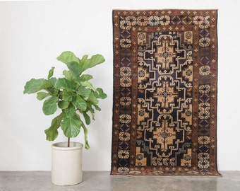 ASAL 4x6.5 Hand Knotted Rizbaft Wool Rug