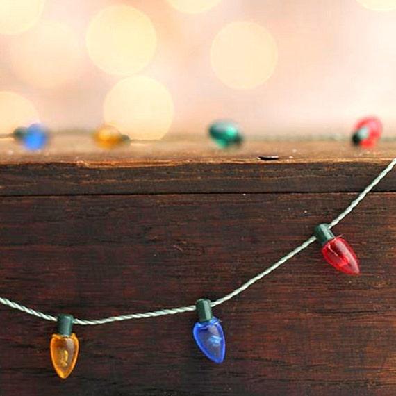 Plastic Christmas Tree Light Set. Miniature For Your Dollhouse