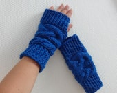 Knit Fingerless Gloves Arm Warmers Fingerless Mittens Hand Warmers Fingerless Gloves great driving / texting  You pick color