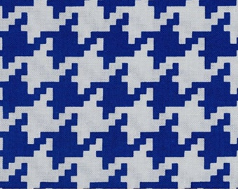 Royal Blue Houndstooth From Michael Miller's Everyday Houndstooth Collection