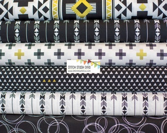 Black Four Corners Bundle From Riley Blake's Four Corner Collection