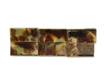 Set of 36 small ceramic tiles
