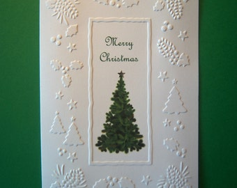 Set of 10 Bordering Trees and Pines Christmas Cards