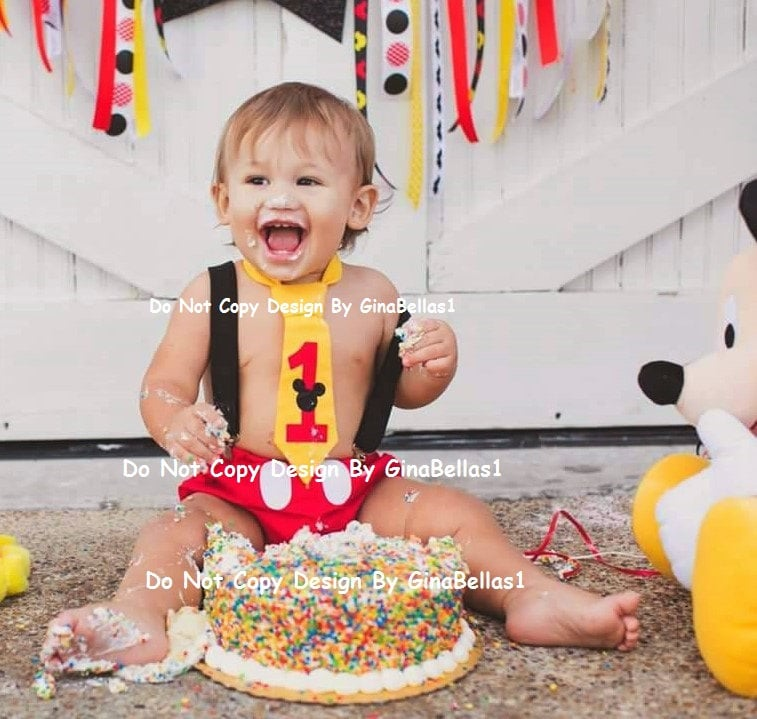 mickey mouse smash cake outfit mickey mouse birthday cake smash suspenders by 5889
