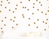 Gold Wall Decal - Polka Dot Wall decals - Nursery Decor - Polka Dot Design Bundles