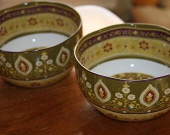 "Artistic Accents 2 Handmade Bowls - Turkish Ottoman Design - Made in Turkey 3 x 6"""