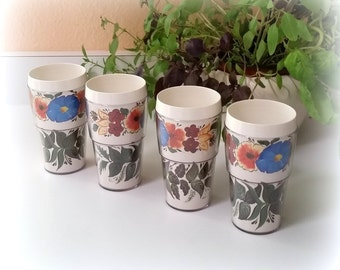 Vintage Thermo Cups - Floral Thermo Cups - Insulated Tumblers - THERMO DESIGNS