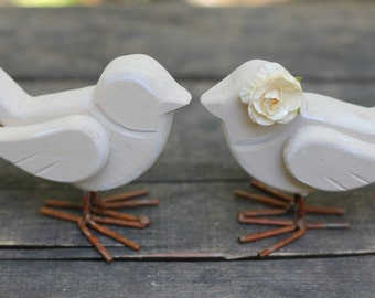 Love Bird Cake Toppers Rustic Shabby Chic Weddings Custom Color