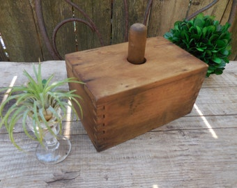 Vintage 1930's Wooden Butter Mold