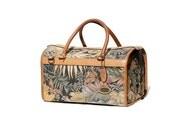 Kilim & Leather Travel Cosmetic Bag