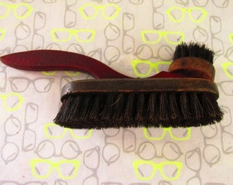 Vintage Shoe Brush/Wood and Bristles/Grooming Accessory/Shoe Polishing Collectible/Rustic Brush Display/Shoe Care and Cleaning