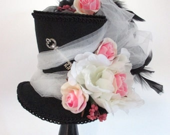 Alice in Wonderland Mini Top Hat, Mad Hatter Tea Party, Mad Hatter Hat