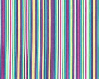 Fat Quarter fabric for quilt or craft Michael Miller Play Stripe in Malibu Fat Quarter