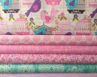 Fabric bundle for quilt or craft Michael Miller Sing Song bundle 6 Half yards