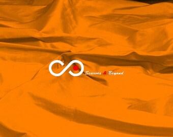 Silk Dupioni Fabric - Orange D265 - Section Orange - 1 yard 100% Silk Dupion