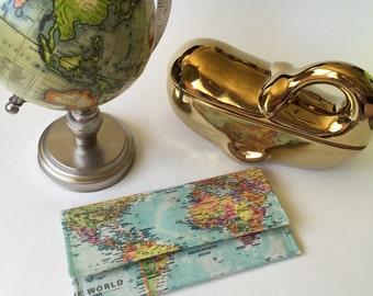 World Map Wallet