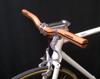 wooden riser bicycle handlebar
