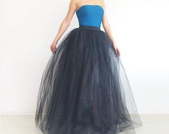 Tulle skirt. Tulle maxi skirt. Black tulle skirt. Princess skirt Tulle skirt women. Adult tulle skirt.Long tulle skirt.Тutu skirt. Plus size