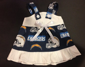 NFL San Diego Chargers Baby Infant Toddler Girls Dress  You Pick Size