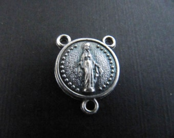 Italian Made Small Round Miraculous Medal Rosary Center
