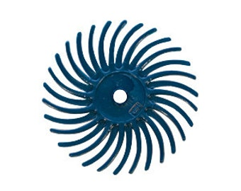 3M Radial Disc 3/4 Inch 400 grit - Blue - For Blending and Semi-finishing - Polishing Finishing Tool - Jewelry Making Tool
