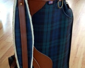 Rare Ralph Lauren polo made in the USA 80's leather & canvas golf bag like new.