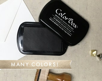 ColorBox Archival Ink Pad - Full Size ColorBox Ink Pads. Many Color Options. Black, Navy Blue, Brown, Green, Red Ink - Fast Drying Ink Pads.