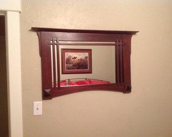 Rich mahogany mirrors