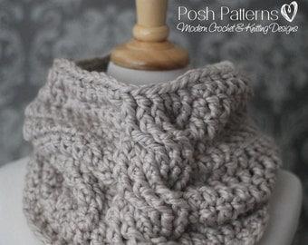 Crochet Pattern - Crochet Cowl Pattern - Infinity Scarf Crochet Pattern - Cowl Crochet Pattern - Toddler, Child, Adult Sizes - PDF 436